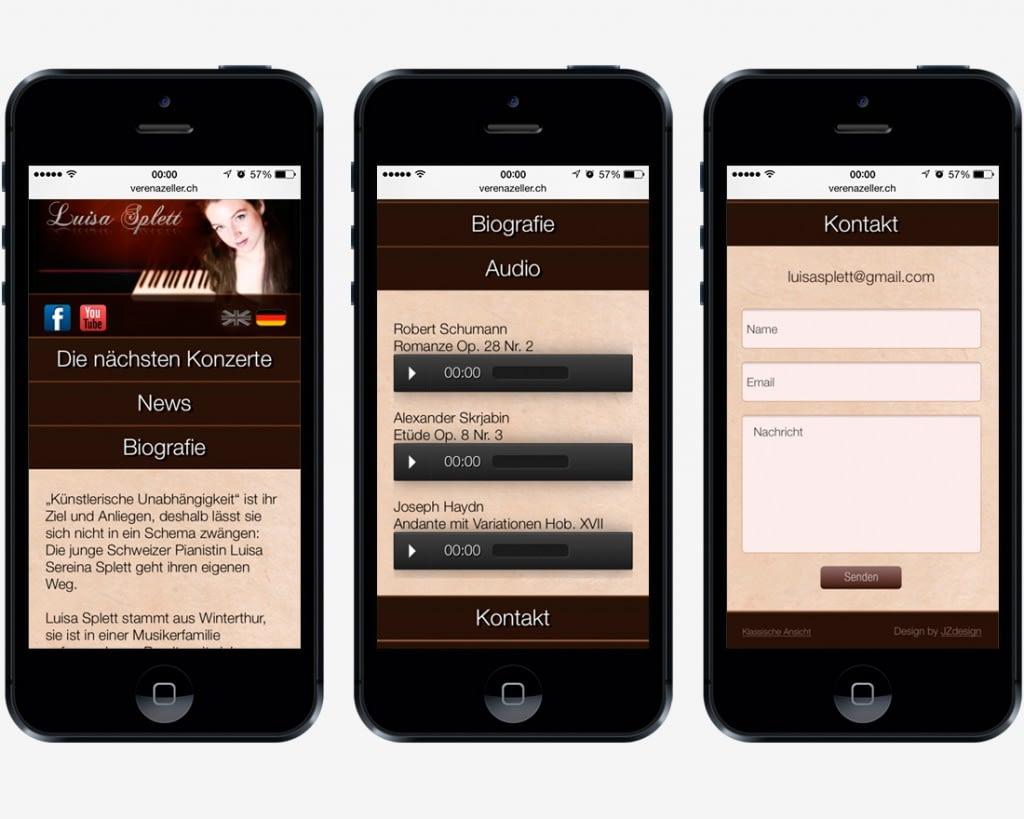 Mobile Version - Luisa Splett, Pianistin