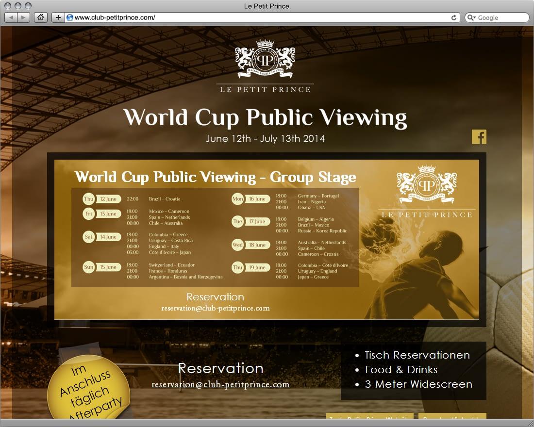 Desktop Landing Page - World Cup Public Viewing