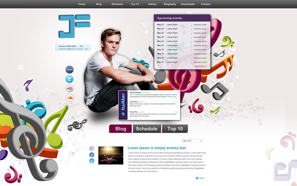 Website Layout 2.0 - DJ Jenas Fox